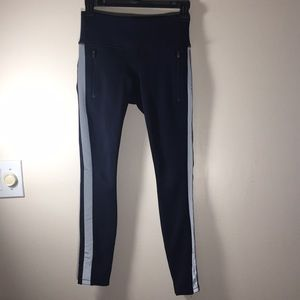 Athleta Winter track pants leggings navy XS